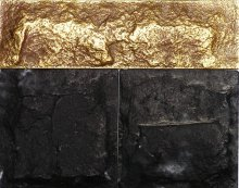 Стеновой камень черный, золотой