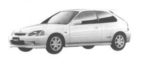 Honda Civic 3DOOR TYPE R 1998 г.