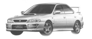Subaru Impreza SPORT SEDAN WRX STi Ver. V 1998 г.