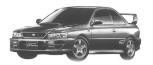 Subaru Impreza SPORT COUPE WRX TYPE R STi Ver. V 1998 г.