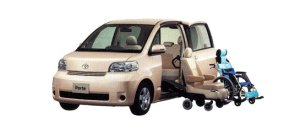 Toyota Porte Welcab, Side Access Car (Detachable Seat + Wheelchair Specification) 2009 г.