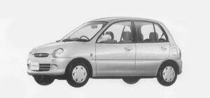 Mitsubishi Minica 5 DOORS PX (4A/T) 1993 г.