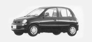 Mitsubishi Minica 5 DOORS Pg-4WD(5M/T) 1993 г.