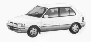 Subaru Justy 4WD 5 DOORS Rf ECVT 1993 г.
