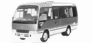 Toyota Coaster CAMPING SALOON SHOWER ROOM 1993 г.