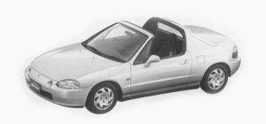 Honda CR-X VXi <MANUAL ROOF> 1993 г.