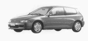 Honda Civic 3 Doors SiR II 1993 г.