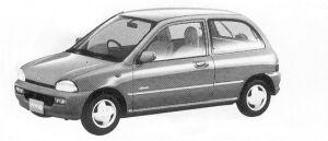 Subaru Vivio 4WD 3DOOR SEDAN EM 5MT 1992 г.