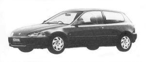 Honda Civic 3DOOR VTI 1992 г.