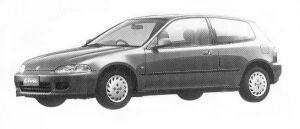 Honda Civic 3DOOR ETI 1992 г.