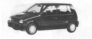 Daihatsu Mira 5DOOR J-TURBO 1990 г.