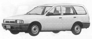 Nissan AD VAN 4DOOR 2WD 1300 VE 5F 1990 г.