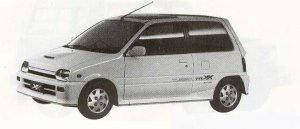 Daihatsu Mira TURBO TR-XX LIMITED 1990 г.