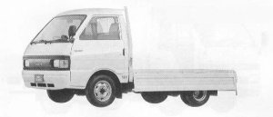 Mazda Eunos Truck CARGO 2WD WIDE LOW 850KG DIESEL 2000 1990 г.
