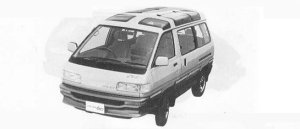 Toyota Liteace WAGON 4WD FXV SKY LITE ROOF 1990 г.