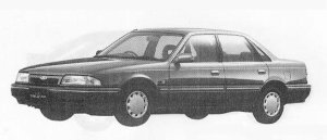 Mazda Ford Telstar SEDAN 1800GL-X 1990 г.