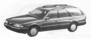 Mazda Ford Telstar WAGON 2000P.W.S. DIESEL GHIA 1990 г.
