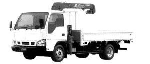 Nissan Atlas 20 Truck with Crane, 2.3 ton 3-level lift 2004 г.