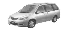 Mazda MPV B (2.3L) 7-seaters, FF 2004 г.