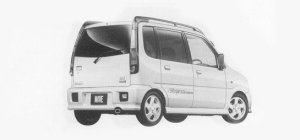 Daihatsu Move AERO DOWN CUSTOM M4 1999 г.