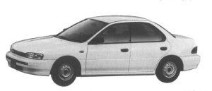 Subaru Impreza 4 door HardTop Sedan 1.5L CF 1995 г.