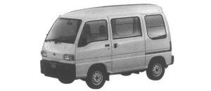 Subaru Sambar VAN HIGH ROOF STD 2-SEATER 1995 г.