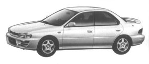 Subaru Impreza 4WD HARD TOP SEDAN 1.8L HX EDITION-S 1994 г.