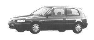 Nissan Pulsar 3 DOORS HATCH BACK 1500M1-SV 1994 г.