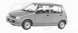 Daihatsu Mira 5DOOR PIT 1991 г.