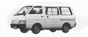 Nissan Vanette VAN 2WD HIGH ROOF 4DOOR 1500DX 1991 г.