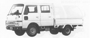 Nissan Atlas 1.0T LONG, DOUBLE CAB,STEEL, DOUBLE TIRE 1991 г.