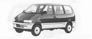 Nissan Vanette SERENA 4WD RV SELECT DIESEL TURBO 2000 1991 г.