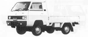 Mitsubishi Delica Truck 2500 DIESEL LOW FLOOR DX SINGLE TIRE 1991 г.