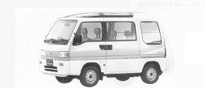 Subaru Sambar TRY DIAS II (4WD) ECVT 1991 г.
