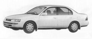 Toyota Corolla SEDAN 1500XE 1991 г.