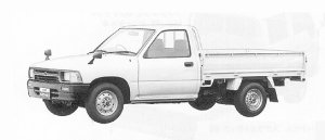 Toyota Hilux LONG BODY, SUPER SINGLE J/L DELUXE 1991 г.