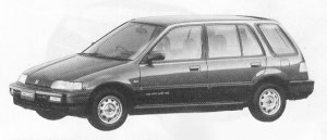 Honda Civic Shuttle 55X-EXTRA 1991 г.