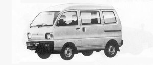 Mitsubishi Minicab VAN 4WD HIGH ROOF CL 1991 г.