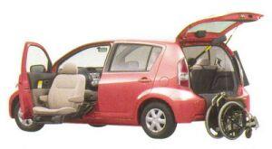 Toyota Passo Welcab, Passenger Lift-up Seat Car, B type I 2005 г.