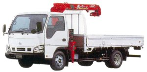 Nissan Atlas 20 Truck with Crane, 2.3 ton 3-level lift 2005 г.