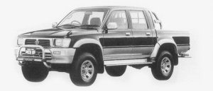 Toyota Hilux 4WD PICK UP DOUBLE CAB SSR-X WIDE BODY 1996 г.