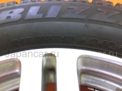 Зимние шины Bridgestone Blizzak wrx 215/55 17 дюймов б/у во Владивостоке