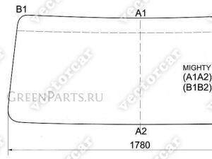Стекло лобовое на Hyundai HD72