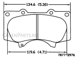 Тормозные колодки на Toyota Land Cruiser Prado GRJ150W 1GR-FE