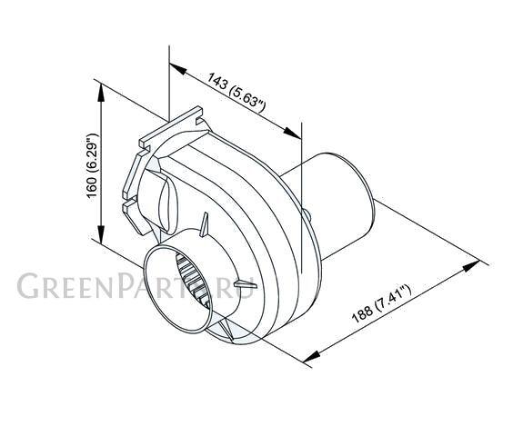 Вентилятор электрический на TMC