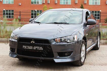 Накладки на передний бампер на Mitsubishi Lancer во Владивостоке