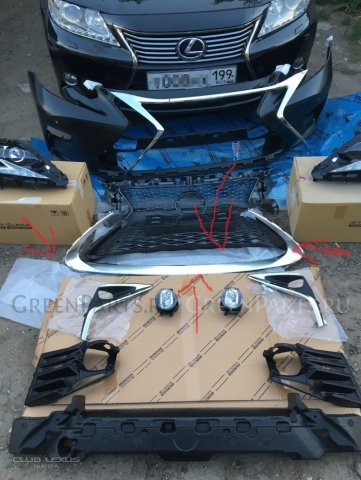 Молдинг бампера на Lexus ES300H ES250 /350